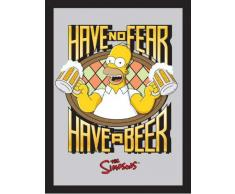 empireposter - Simpsons, The - Homer Have a Beer - Größe (cm), ca. 30x40 - Maxi-Spiegel, NEU - Beschreibung: - Bedruckter Wandspiegel mit schwarzem Kunststoffrahmen in Holzoptik -