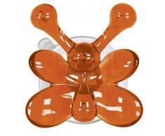 Kleine Wolke MS Kunststoff Wandhaken, orange