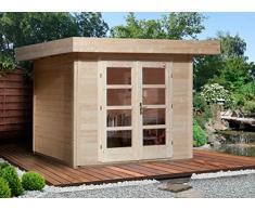 Weka Gartenhaus, Designhaus 126 Größe 2, 28 mm, DT, natur, 356x314x226 cm, 126.3024.00.00