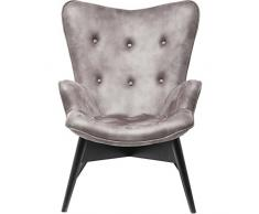 Sessel Angels Wings Anthracite Econo, moderner TV Chillout Polstersessel mit Armlehne, Lounge XL Cocktailsessel im Retro-Vintage Design, anthrazit (H/B/T) 94x73x81cm