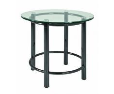 Haku-Möbel 42071 Beistelltisch 53 x 55 cm, schwarz nickel