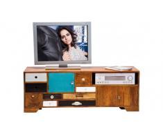 Kare Design TV Lowboard Malibu mit 3 Türen Mango massiv