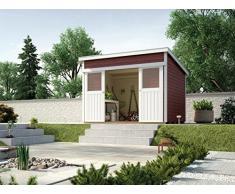 Weka Gartenhaus, Schiebetürhaus 225 Größe 1, 21 mm, rot, 315x249x238 cm, 225.3021.13401