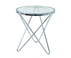 Haku-Möbel Beistelltisch, 45 x H: 50 cm, chrom