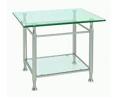 Haku-Möbel 39820 Beistelltisch 58 x 43 x 52 cm, edelstahloptik
