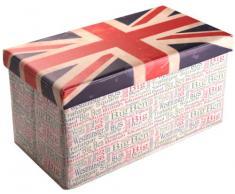 Versa Sitzhocker, faltbar, rechteckig, Modell englische Flagge