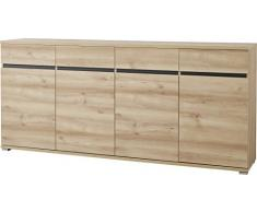 Germania 3479-228 Sideboard GW-Lissabon, 192 x 88 x 40 cm, edelbuche Nachbildung