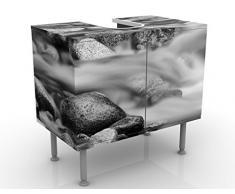 Apalis 53072 Waschbeckenunterschrank Fluss in Kanada II, 60 x 55 x 35 cm