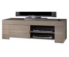 TV Schrank Eos klein mit 1 Tür, 140 x 45 x 50 cm, Eiche grau Nachbildung