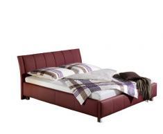 Maintal Betten 234060-4793 Polsterbett Sina 180 x 200 cm, Kunstleder bordeaux