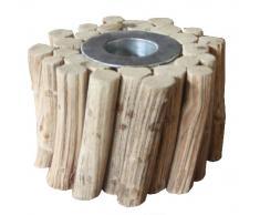 Kasper-Wohndesign W064-10 Teelichthalter, Holz, holz, 10 x 10 x 10 cm