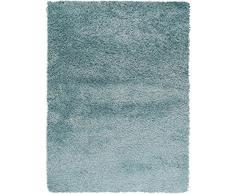 benuta Shaggy Hochflor Teppich Sophie Hellblau 80x150 cm | Langflor Teppich für Schlafzimmer und Wohnzimmer