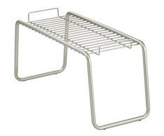 InterDesign Forma Ultra Badregal, kompakte Badablage aus Metall, mattsilberfarben