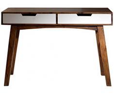 SIT-Möbel 7707-10 Schreibtisch Sixties, antikfinish, 120 x 60 x 80 cm, weiß / braun