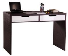 Phönix 806302KR Verona Schreibtisch mit 2 Schubladen, kroko-leder / optik / weiß