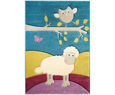 benuta Kinderteppich Eule und Schaf Multicolor 140x200 cm   Teppich für Spiel- und Kinderzimmer