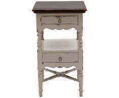 SIT-Möbel 9754-97 Beistelltisch Spa, Akazie massiv, Farbe taupe, 2 Schubladen, 1 Zwischenablage, 55 x 41 x 100 cm