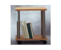 HAKU Möbel 33081 Beistelltisch 52 x 40 cm, alu / eiche