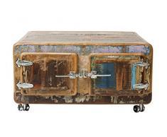 SIT-Möbel Fridge 2694-98 Couchtisch 90x90x40, recyceltes Altholz, bunt lackiert