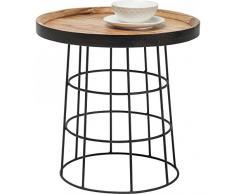 Kare 80207 Beistelltisch Country Life Möbel, Durchmesser 53 cm, Holz, schwarz/braun, 53,5 x 53,5 x 52 cm