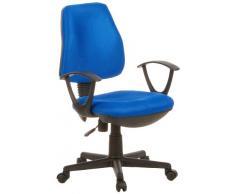 hjh OFFICE 666010 Bürostuhl Drehstuhl CITY 10 Stoff blau, idealer Bürodrehstuhl für das Home Office, ergonomisches Sitzpolster, feste Polsterung, Rückenlehne höhenverstellbar, feste Armlehnen, Schreibtischstuhl