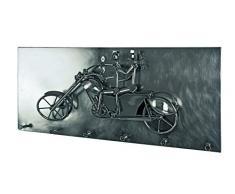 Haku-Möbel Wandgarderobe, 16 x 80 x H: 35 cm, schwarz nickel