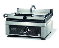 Caso 2820 Profi Gourmet Grill, Doppel Kontakt, 2500 W, Bratfläche oben und unten gerillt, Grillplatte aus langlebigem Gusseisen, 27 kg