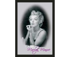 empireposter - Monroe, Marilyn - Make Up - Größe (cm), ca. 30x40 - Maxi-Spiegel, NEU - Beschreibung: - Bedruckter Wandspiegel mit schwarzem Kunststoffrahmen in Holzoptik -