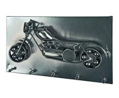 HAKU Möbel Wandgarderobe, 9 x 35 x H: 20 cm, schwarz nickel