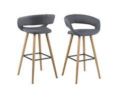 AC Design Furniture 64428 Barhocker, Stoff, dunkelgrau, 38 x 56 x 97 cm