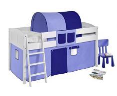 Lilokids IDA4106KW-BLAU-BLAU Kinderbett, Holz, blau, 208 x 98 x 113 cm