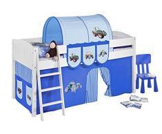 Lilokids IDA4106KW-TRECKER-BLAU Kinderbett, Holz, trecker blau, 208 x 98 x 113 cm