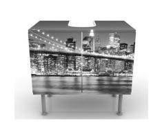 Apalis 53968 Waschbeckenunterschrank Nighttime Manhattan Bridge II, 60 x 55 x 35 cm