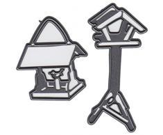 Marianne Design MARCR1290 Craftables Stanzform Tinys Vogelhaus - Cutting Die, Stahl, grau, 16 x 11.5 x 3 cm