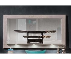 trendteam PE Wandspiegel Garderobenspiegel Spiegel | Betonoptik | 160 x 88 cm
