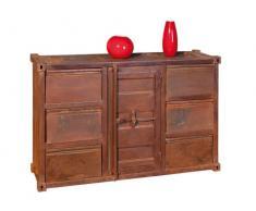 Links 85300050 Iron Sideboard 40 Dry 6 Schubladeaden und 1 Tür, rostig