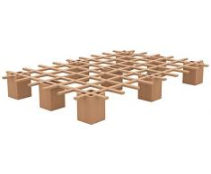 Tojo Bett - Tojo system Funktionsbett -100 x 200 cm - Ideal als Gästebett, Studentenbett, Jugendbett - Das flexible Raumwunder - Unbehandeltes Holzbett ohne Schrauben, Beschläge