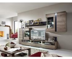 wohnwand holz dunkel, stella trading wohnwände bei livingo online kaufen, Design ideen