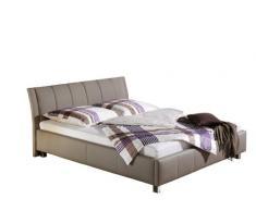 Maintal Betten 234054-4130 Polsterbett Sina 140 x 200 cm, Kunstleder taupe