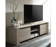 LC spa 200503-01 TV Schrank Elba gross mit 2 Türen, 180 x 55 x 51 cm, in Eiche grau