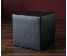 Zebra und Art Design A1026/1 Hocker, Lederimitat, schwarz, 38 x 38 x 40 cm