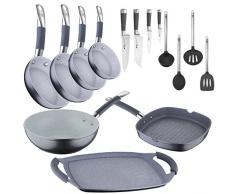 San Ignacio–Akku-Küche Profi: Professionelle Pfannen, Wok und Grill, Messer, Küchenutensilien