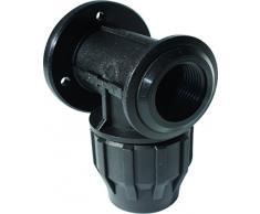 s & M Verschraubung Winkelstück, Wasserhahn, 32 mm x 1, schwarz