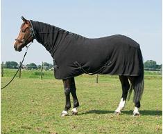 Harrys Horse 32200062-05175cm Fleecedecke Deluxe mit Halssteil, M, schwarz