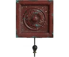 BHP B990842 Wandgarderobe, 15 x 23 cm, holz / rot