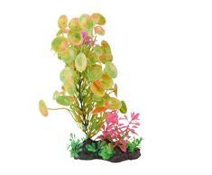 Sourcingmap Kunstpflanze für Aquarien, Kunstharzboden, Grün/Gelb