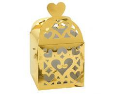 amscan Favours Laterne Boxen, goldfarben