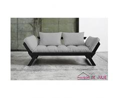 Karup 140102746 Bebop Schlafsofa, Stoff, gris, 206 x 80 x 75 cm