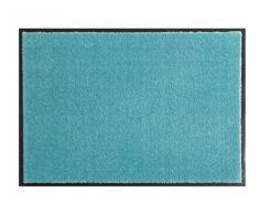 Hanse Home Waschbare Schmutzfangmatte Soft & Clean Türkis, 58x180 cm