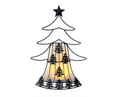 ABC Home Garden Solarleuchte ❄ ❄ Gartendeko Weihnachtsbaum ❄ Weihnachtsdeko ❄ LED ❄ EIN- & Ausschalter ❄ ❄, Rot, 12,5 x 37 x 52 cm